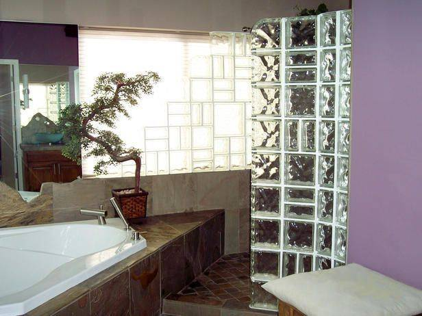 Banheiro com Blocos de Vidro Iluminação e Elegância! – Decoração de Casa -> Decoracao Com Tijolo De Vidro No Banheiro