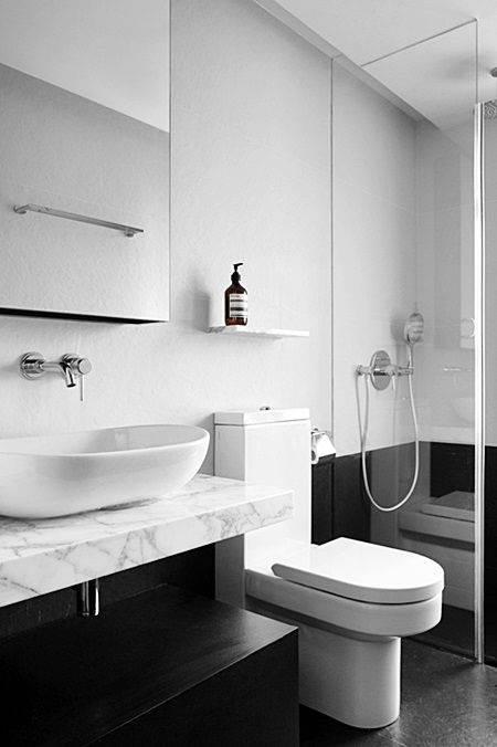 Banheiros com Piso Preto – Estilo e Elegância! – Decoração de Casa -> Decoracao Banheiro Piso