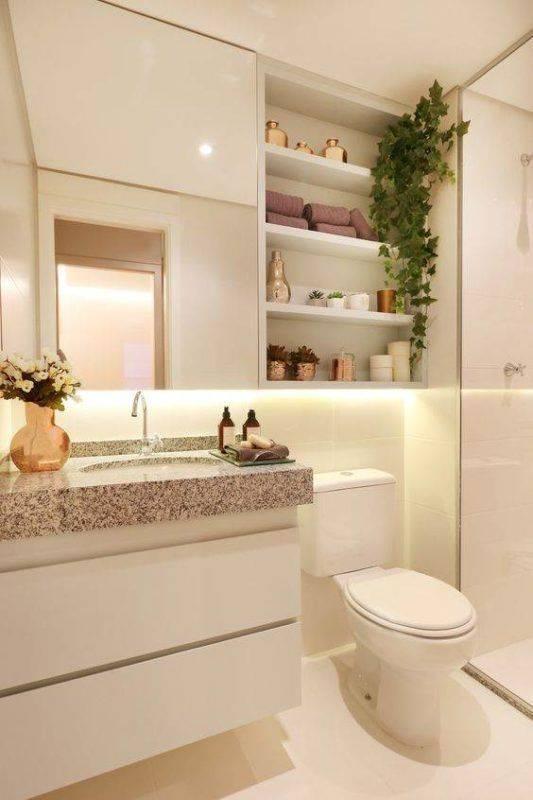 Banheiros com m rmore pia bancada piso e parede for Todo sobre decoracion de interiores