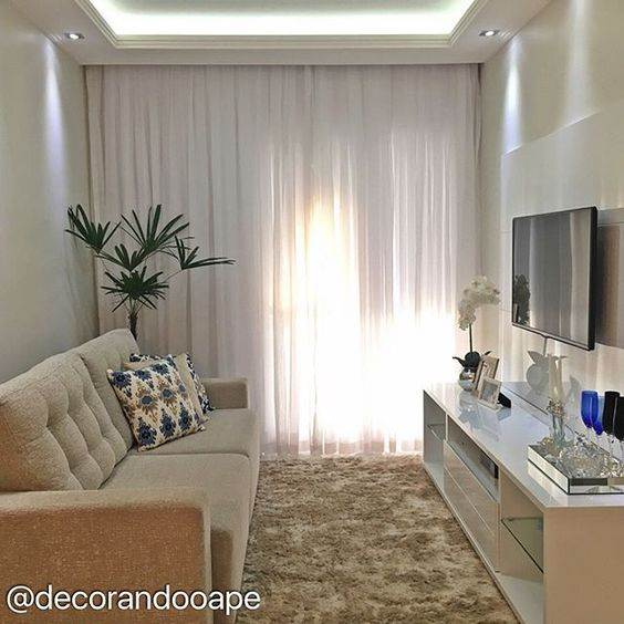 Decoracao De Sala Linda ~ Salas de Apartamento Pequeno Decorações Práticas – Decoração