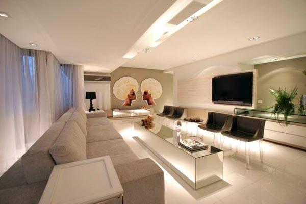 Salas com gesso decora o de casa for Sala grande