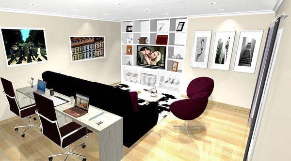Sala Tv Home Office ~  sala, é hora de separar o espaço e montar seu espaço na sala de