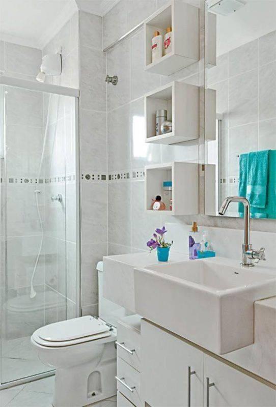Ideias Para Decorar Banheiros Antigos : Banheiros com nichos mdf porcelanato e embutidos