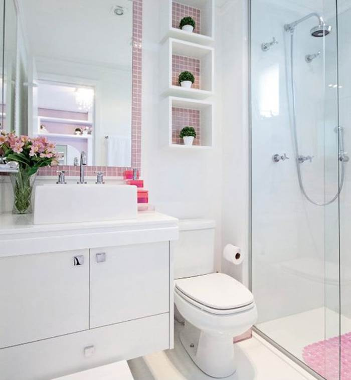 Banheiros com Nichos MDF, Porcelanato e Embutidos – Decoração de Casa -> Nichos Mdf Banheiro