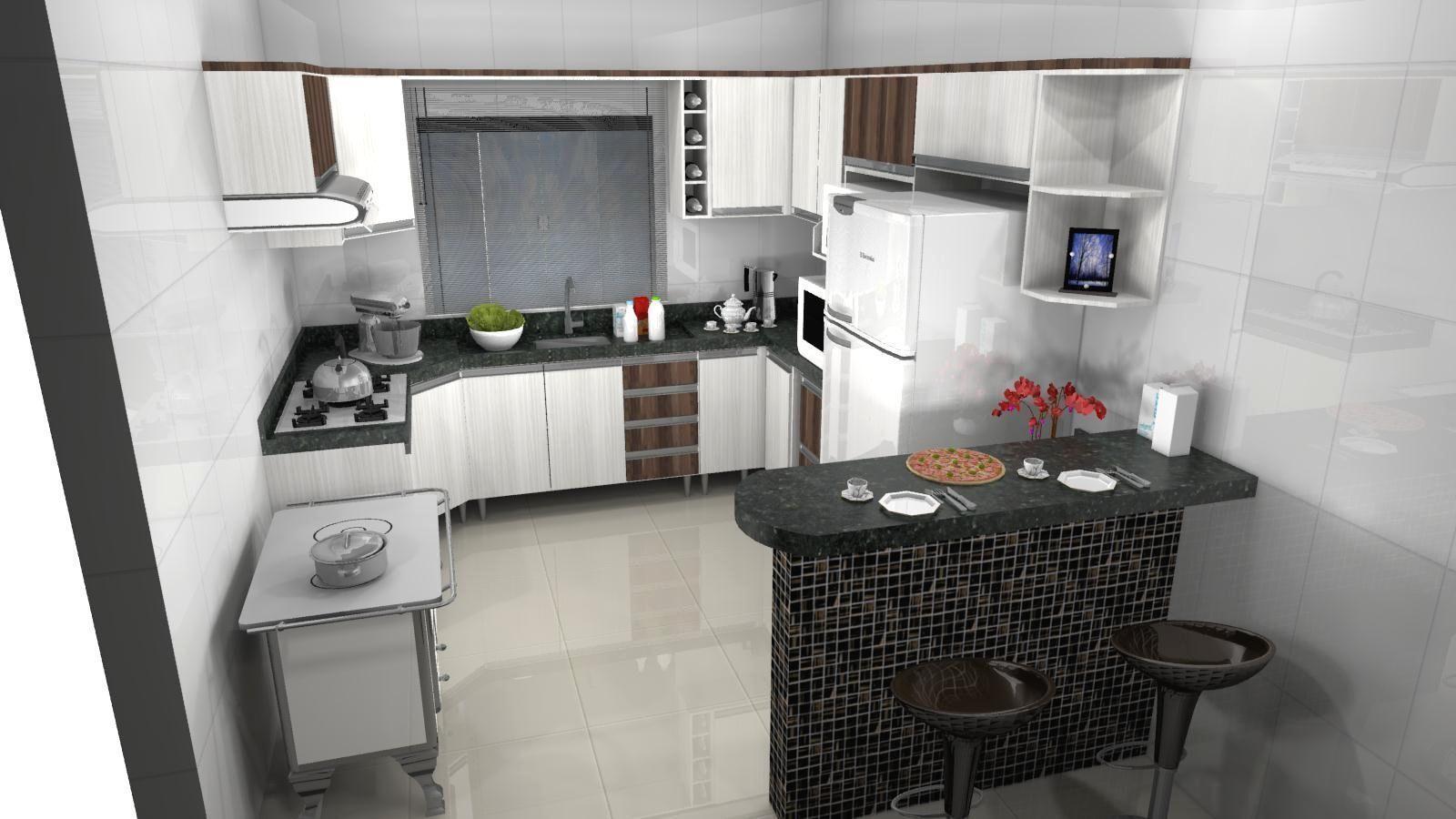 Cozinha Modelada Cozinha Modulada Smart Peas Henn Cozinha Modelada