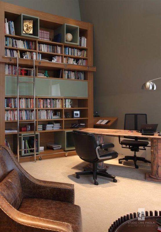 25 Modelos de Escritório com Biblioteca Decorados ...