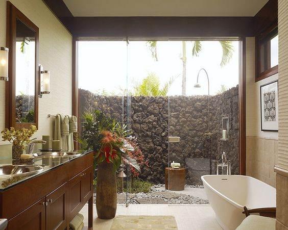 Bathrooms En Suite Attached: Banheiros Com Jardim De Inverno Estilosos