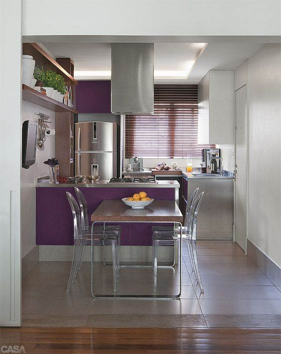 50 cozinhas com copa decora es incr veis decora o for Decoracion barata pisos pequenos