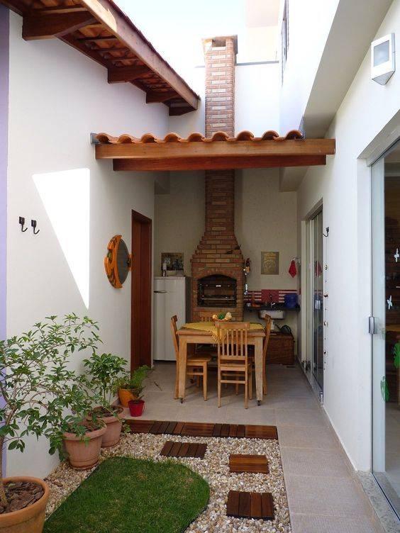 45 decora es de rea de lazer simples decora o de casa for Asador en patio pequeno