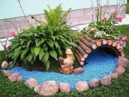 Jardim com Pedras 46 Decorações para Se Inspirar! u2014 Decoraç u00e3o de Casa -> Decoração De Jardim Com Vasos E Pedras