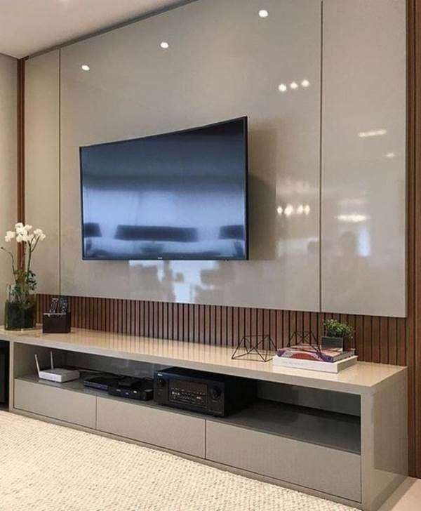 50 Tiny Movie Room Decor Ideas: Painel Para TV No Quarto: +30 Modelos Apaixonantes