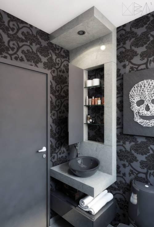 Papel de parede para banheiro 50 modelos diferentes - Papel vinilico para paredes ...