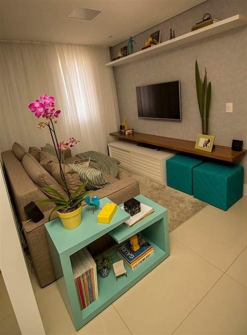 Sala De Tv Moderna E Simples.44 Salas De Tv Decoradas Com Capricho Decoracao De Casa