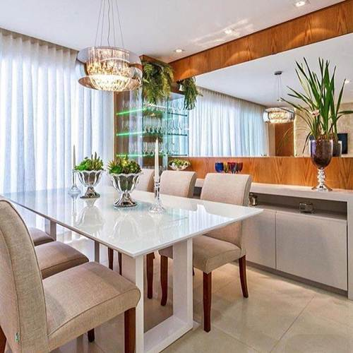 +40 Salas de Jantar com Espelho Sofisticadas e Modernas