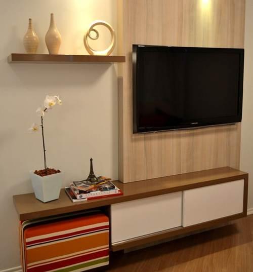 +40 Racks para Sala Pequena Modernos e Elegantes! u2013 Decoraç u00e3o de Casa -> Decoração Rack Para Sala Pequena