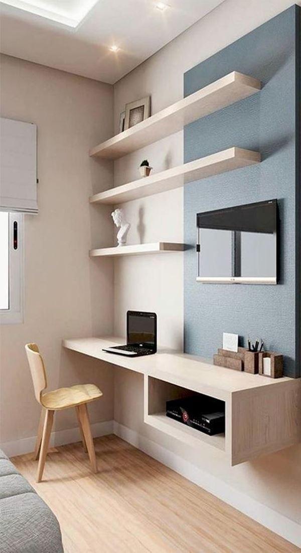 Escrivaninha para quarto pequeno 53 modelos ideais for Muebles para oficina estilo minimalista