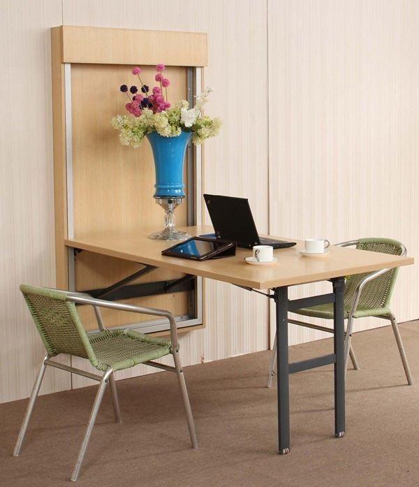 35 Mesas Dobráveis que Também Podem ser Instaladas em Paredes!